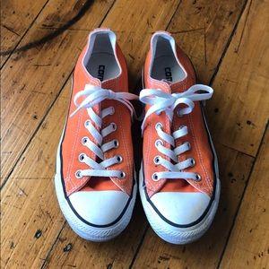 Orange Converse Chuck Taylor Low Top